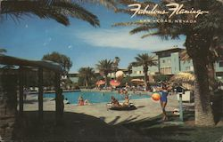 Fabulous Flamingo Hotel Postcard