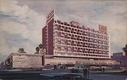 Fremont Hotel and Casino Illustrated View Postcard