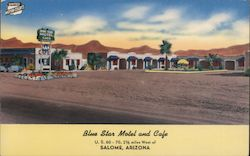 Blue Star Motel and Cafe Postcard