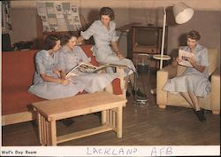 WAF Day Room, Lackland Air Force Base Postcard