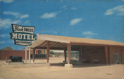 The Black Angus Motel and Restaurant Postcard