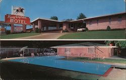 Pony Express Motel and Pool Postcard