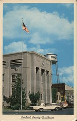 Caldwell County Courthouse, View of West Entrance from Main Street Postcard