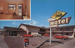 Relax in Quiet Comfort at El Rey Sands Motel, 815 Main Ave. Postcard