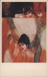 Confidences, Le Secret by Jean Valadie, Dover Gallery Postcard