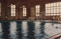 Camp Shoemaker Enlisted Men's Swimming Pool, U. S. N. Training and Distribtion Center Postcard