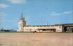Operations Building and Tower, U. S. Naval Air Station Postcard