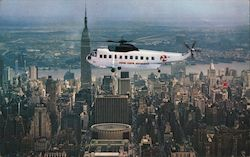 New York Airways Helicopter Postcard