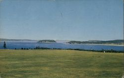Panoramic View showing Partridge Island Postcard
