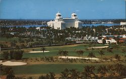 Air View of Palm Beach, Florida showing the famous Biltmore Hotel Postcard