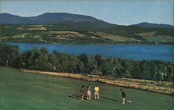 Rangeley Lakes, Dallas Hill, Mt. Saddleback from Rangeley Lakes Golf Course Postcard