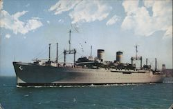 Military Sea Transportation Service, Dept. of the Navy Postcard