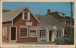 Post Office and Store - Hyannis Port Postcard