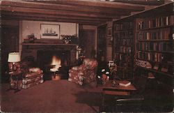 The Pines Library in Evergreen Postcard