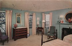"The Pines, Cape Cod. Bedroom in ""Evergreen"" Postcard"