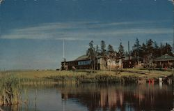 Pictou Lodge is one of Nova Scotia's most popular vacation resorts. Color Photo. Postcard
