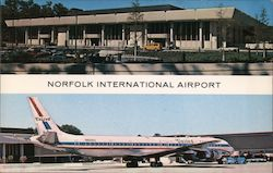 Norfolk International Airport Terminal building Postcard