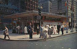 Times Square Information Center Postcard