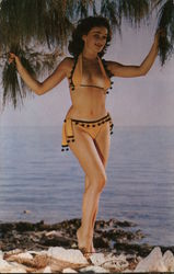 A Miss By the Sea, Woman in Skimpy Bikini Postcard