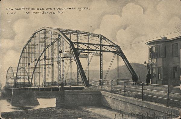 New Barrett Bridge Over Delaware River Port Jervis New York