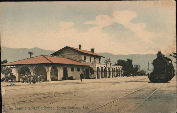 The Southern Pacific Depot Santa Barbara California