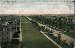 Birds-Eye of Infantry Quarters, Fort Snelling, Twin Cities