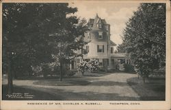 Residence of Mr. Charles A. Russell Postcard