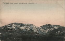 Winter Scene on Mt. Diablo from Concord