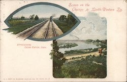 Scenes on the Chicago & North-Western Ry. Postcard