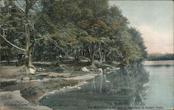 West Bank of Lake, Mohegan Park Postcard