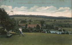 On the Golf Links, Richfield Country Club Postcard