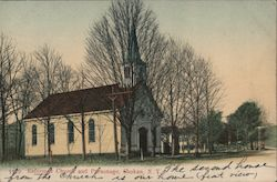 Reformed Church and Parsonage Postcard