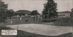 Recreation Spot, Tennis Court, Hershey Chocolate Company Postcard