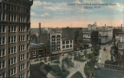 Capitol Square Park and Griswold Street Postcard