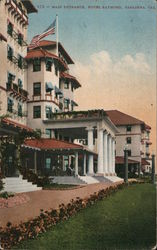 Main Entrance, Hotel Raymond Postcard