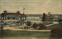 Kingston Point Park, Band Stand and Boat Landing Postcard
