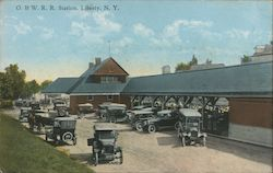 Ontario and Western Railroad Station Postcard