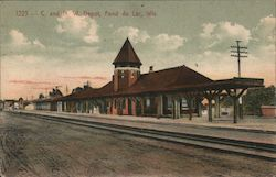 Chicago & North Western Depot Postcard