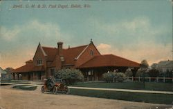 Chicago, Milwaukee & St. Paul Depot Postcard