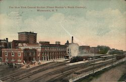 The New York Central Station (Finest Station in North Country) Postcard