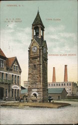 N.Y.C. & H. Railroad Depot, Town Clock, Corning Glass Works