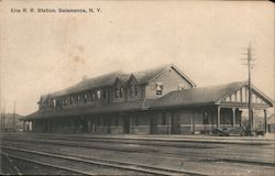 Erie Railway Station Postcard