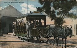 Street Car, Matamoros Postcard