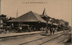 Delaware, Lackawanna and Western Station Postcard