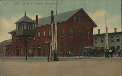 Ontario and Western Depot Postcard