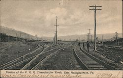 Portion of the P.R.R. Classification Yards Postcard