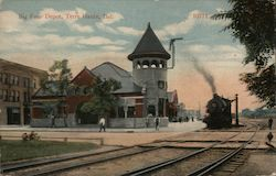 Big Four Depot Postcard
