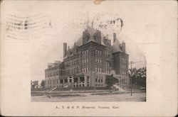 Atchison, Topeka and Santa Fe Hospital Postcard