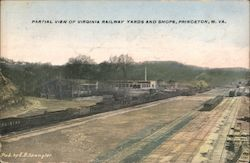 Partial View of Virginia Railway Yards and Shops Postcard
