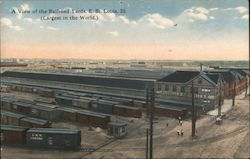 View of the Largest Railroad Yards in the World Postcard